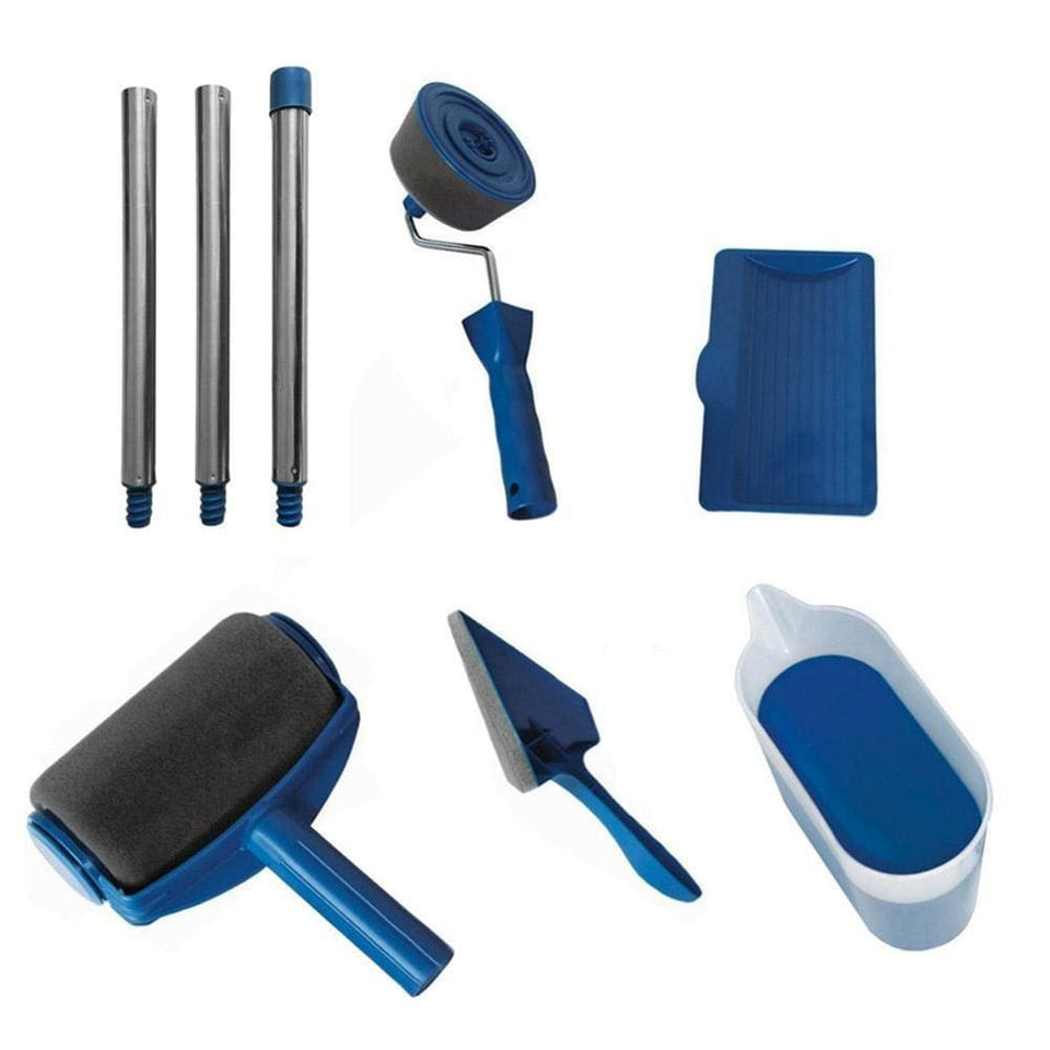 8 PCS Paint Roller Kit - 8pcs Seamless - Home & Garden
