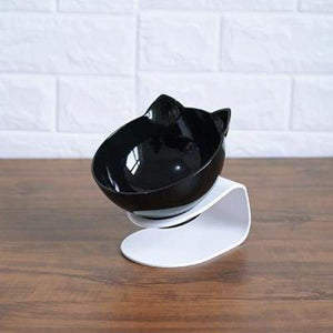 Anti-vomiting Orthopedic Pet Bowl - single black / free size