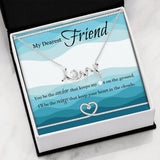 MyDearestFriend-HeartKnot Scripted Love Necklace