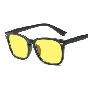 Blue Light Filter Gaming Glasses - Black Yellow - health and wellness