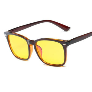 Blue Light Filter Gaming Glasses - Brown 2 - health and wellness