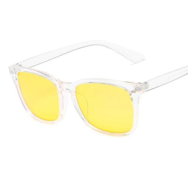 Blue Light Filter Gaming Glasses - Transparent Yellow - health and wellness