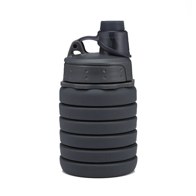 Collapsible Silicone Water Bottle - China / Black 2 - Consumer Goods