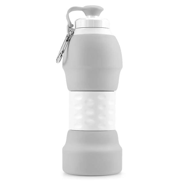Collapsible Silicone Water Bottle - China / Gray - Consumer Goods