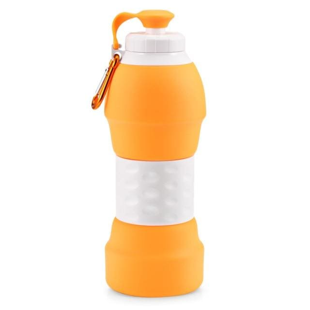 Collapsible Silicone Water Bottle - China / Orange 3 - Consumer Goods