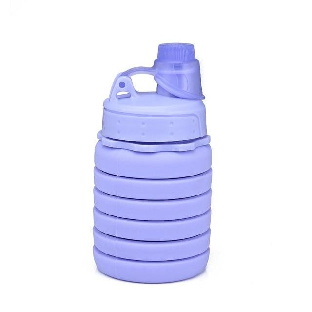 Collapsible Silicone Water Bottle - China / Purple 2 - Consumer Goods