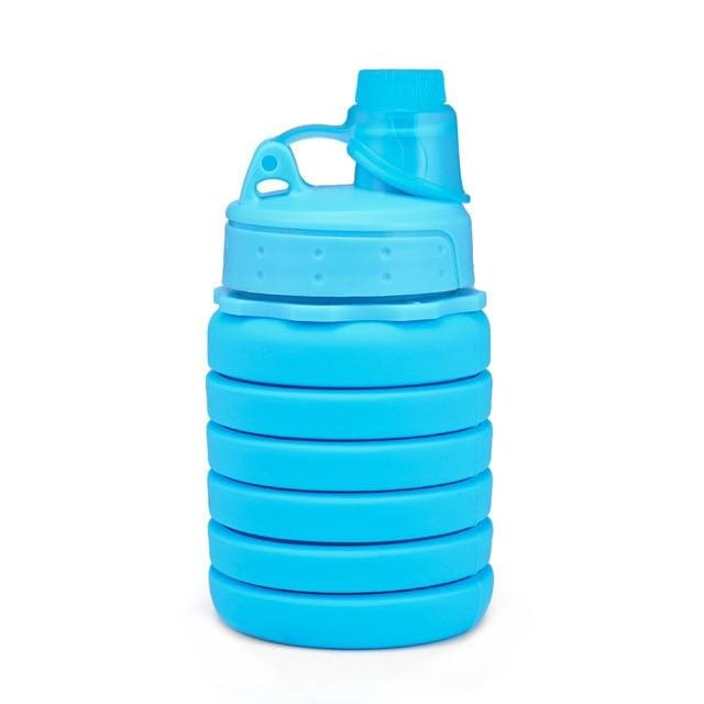 Collapsible Silicone Water Bottle - China / Sky Blue - Consumer Goods