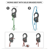 CordTight - Knot-Free Cord Tightening Carabiner (1 Pair With Rope) - Consumer Goods
