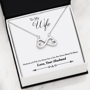 05-To Wife from Husband Everlasting Love Necklace - Jewelry