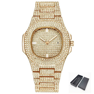 ICE-Out Bling Diamond Watch For Men and Women - Gold-Box - Consumer Goods