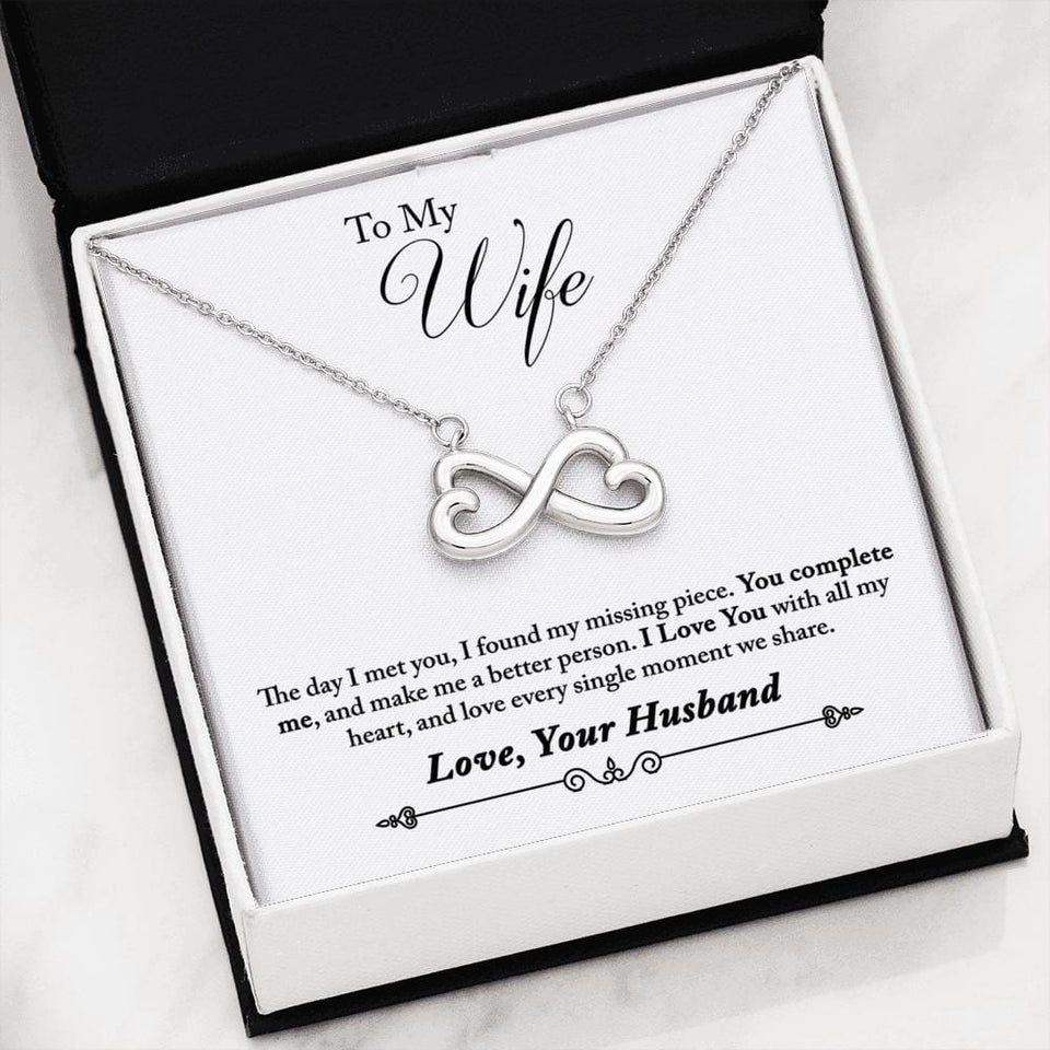 06-To Wife From Husband (1) Everlasting Love Necklace - Jewelry