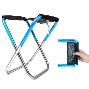 Pocket Chair - Ultra-Light Folding Chair - Blue - Consumer Goods