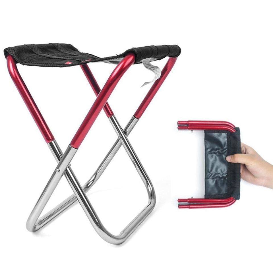 Pocket Chair - Ultra-Light Folding Chair - Red - Consumer Goods
