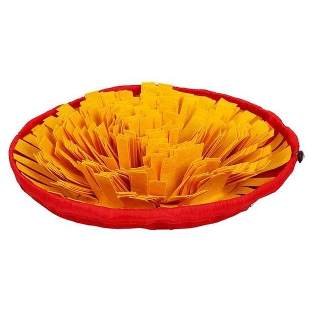 Sniff Bowl - Interactive & Slow Feeding Pet Snuffle Mat - Yellow / Pet Toy - Pet supplies