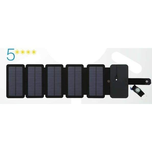 DD - Solar Powered Foldable Phone Charger - 5 Solar Panels