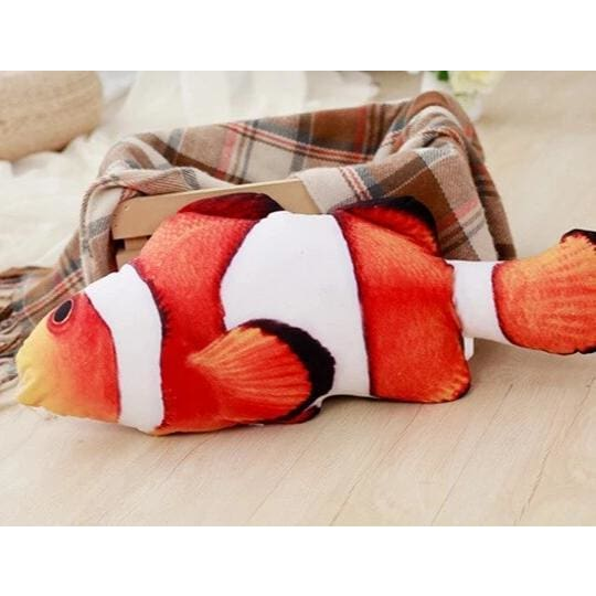 Stuffed Catnip Kicker Fish Toy - Purple - Pets