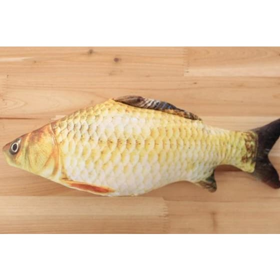 Stuffed Catnip Kicker Fish Toy - white - Pets