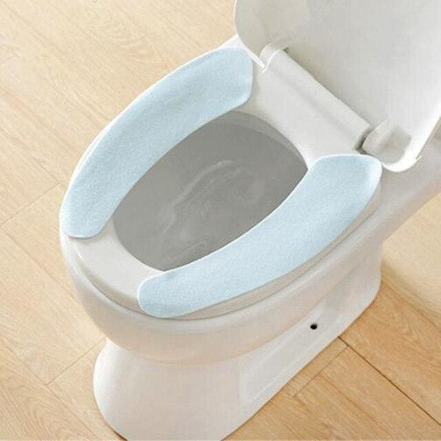 Toilet Cushion - Washable Self-Adhesive Toilet Seat Pad - blue - Consumer Goods