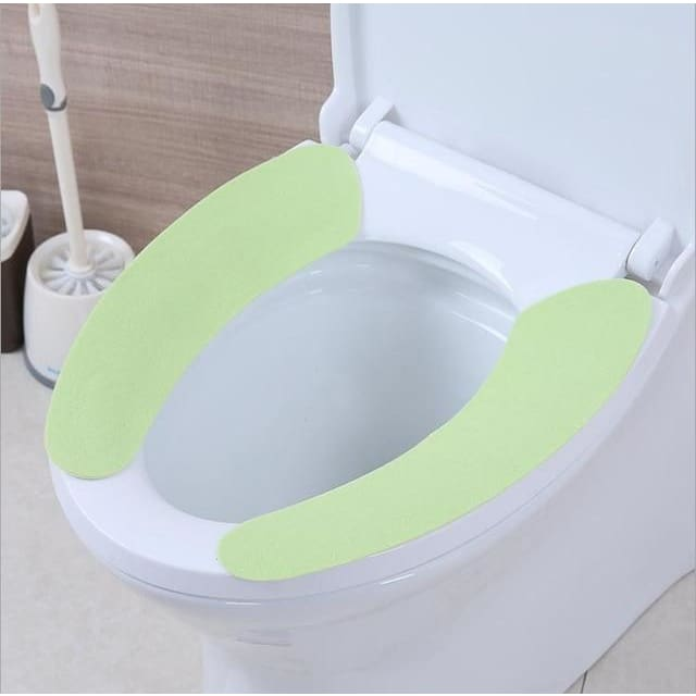 Toilet Cushion - Washable Self-Adhesive Toilet Seat Pad - green - Consumer Goods