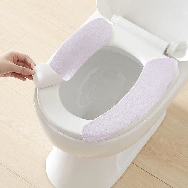 Toilet Cushion - Washable Self-Adhesive Toilet Seat Pad - purple - Consumer Goods