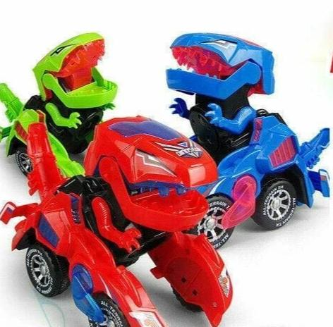 Transformer Dinosaur LED Car