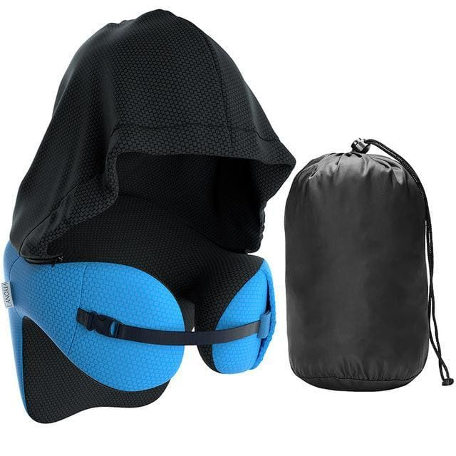 Travel Pillow with Detachable Hood - Default - Consumer Goods