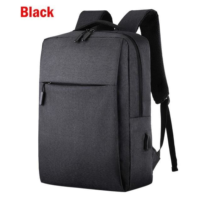 USB Charging Anti-Theft Backpack - black - Consumer Goods
