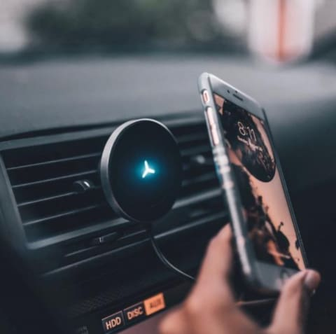 1 Magnetic Wireless Charger Car Qi Mount