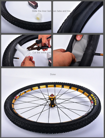 FlatlessTire - Bicycle Tire Inner Lining Puncture Protector