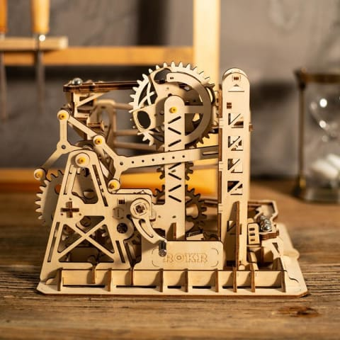 1 DIY Waterwheel Coaster Building Kit Toy