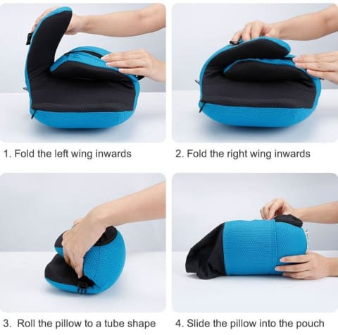1 Travel Pillow with Detachable Hood