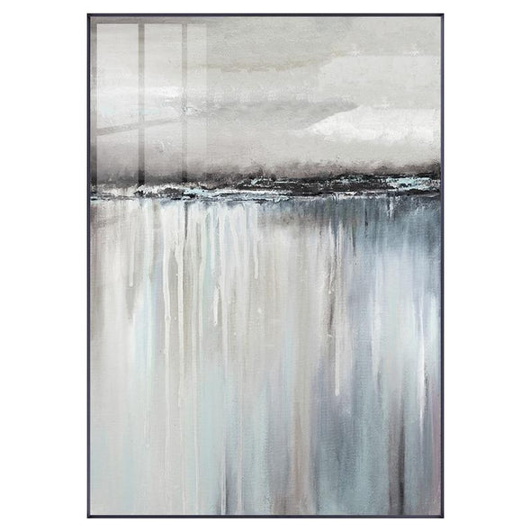 Abstract Gray Reflection on Canvas