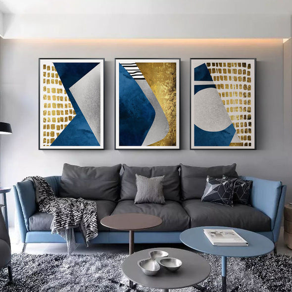 Colorful Shapes on Canvas