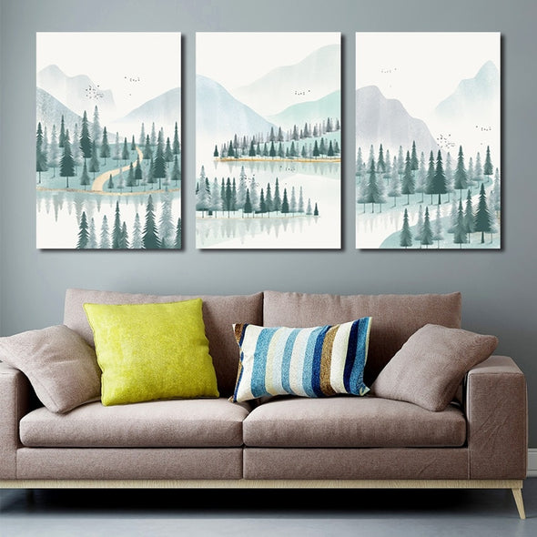 Forest & River on Canvas