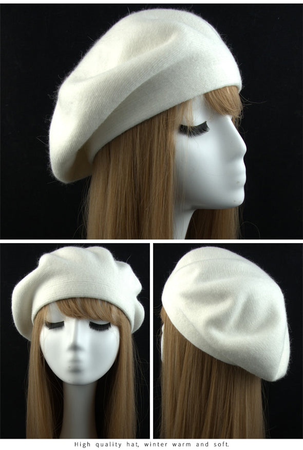 Cashmere Double-Layered Beret