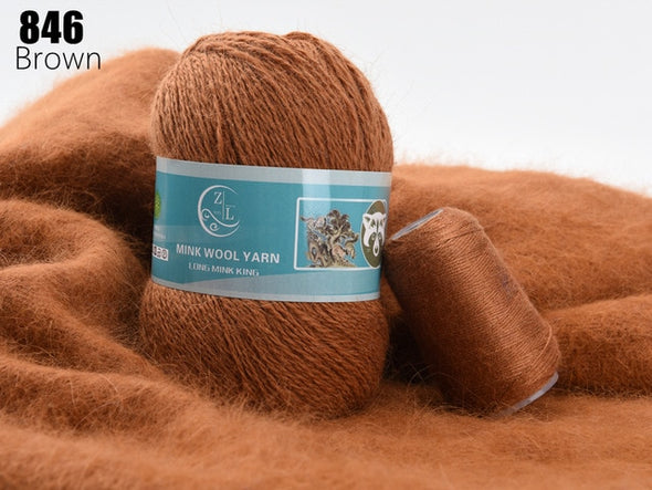 Long-Haired Mink Cashmere Yarn - ZL (Launch Price)