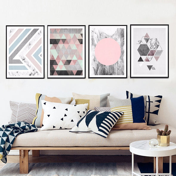 Geometric Abstract on Canvas