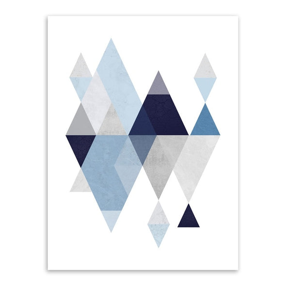 Geometric Shapes on Canvas