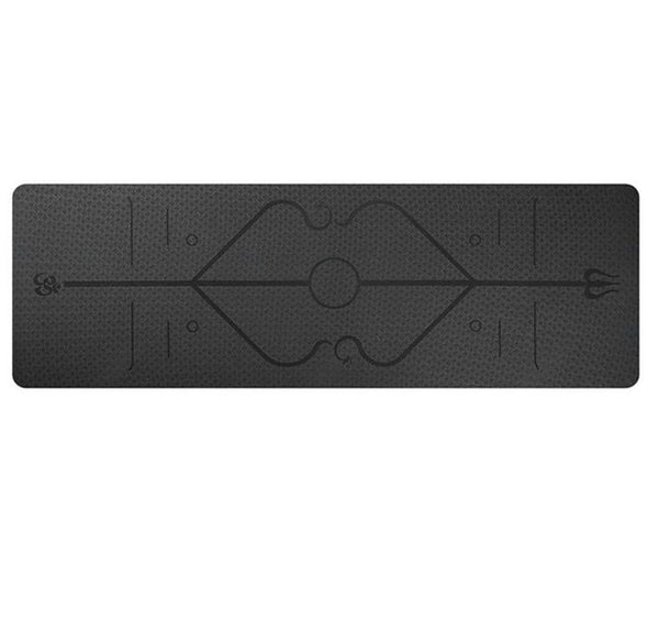Yoga Mat with Position Lines