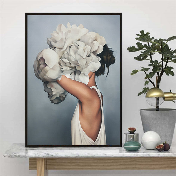 Avatar Flower Girl on Canvas