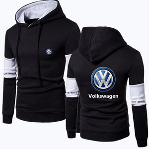 V.W HOODED B/W SPORT SWEATSHIRT