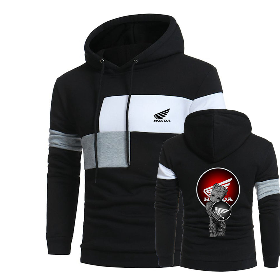 H.O.N.D.A MOTORCYCLE HOODED SPORT SWEATSHIRT