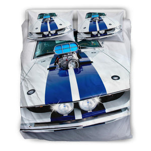 M.u.s.t.a.n.g Engine Top Quilt Doona Duvet Cover Set TWIN QUEEN KING