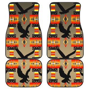 Eagle Brownish Gray Fade Front And Back Car Mats (Set Of 4)