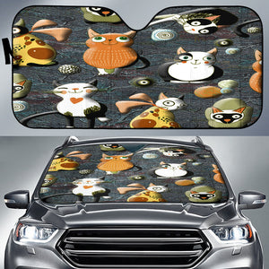 Cartoon cats Sun Shade