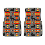 Deer Gray Front Car Mats (Set Of 2)