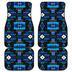 Seven Tribes Midnight Lake Front And Back Car Mats (Set Of 4)