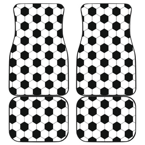 Soccer Pattern Front And Back Car Mats (Set Of 4)