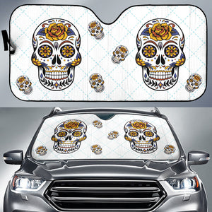 Sugar Skull Car Sun Shade