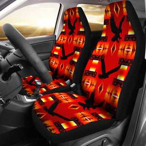 Seven Tribes Eagle Red Car Seat Covers